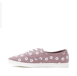 Shoes Forever 21 Floral purple white new7 us